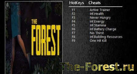 Трейнер  для The Forest {MrAntiFun} 0.61b, 61c